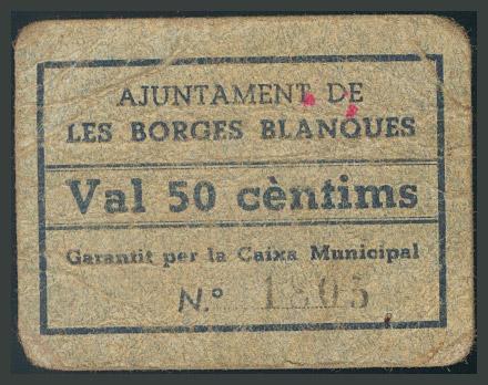 289 - Billetes Guerra Civil