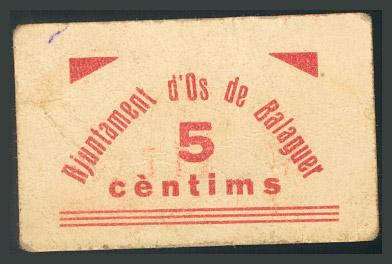 294 - Billetes Guerra Civil