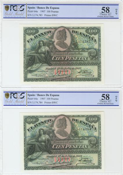 957 - Billetes Españoles