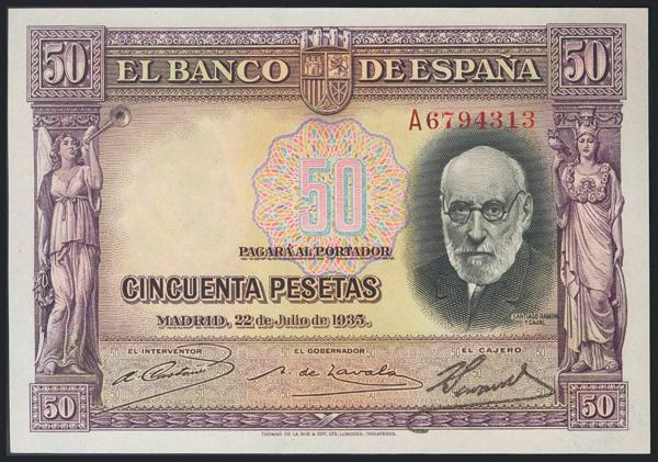 976 - Billetes Españoles