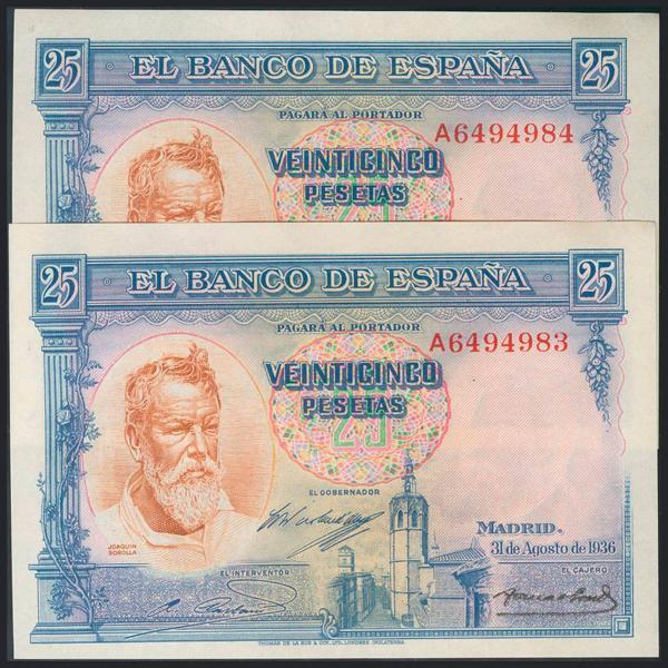 980 - Billetes Españoles