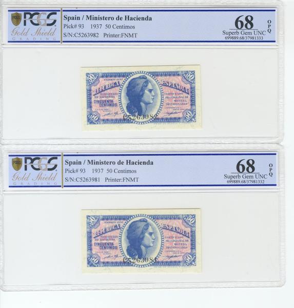 984 - Billetes Españoles