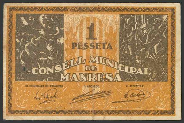 M0000006832 - Spanish Civil War Bank Notes