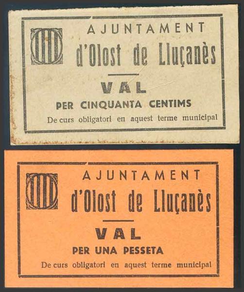 M0000006838 - Spanish Civil War Bank Notes