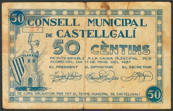 M0000007448 - Spanish Civil War Bank Notes