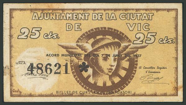 M0000007467 - Spanish Civil War Bank Notes